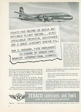 1951 Texaco Fuel Ad Braniff International Airways Vice President Airline Canada