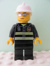 LEGO Minifig wc021 @@ Fire Reflective Stripes Fire Helmet, Sunglasses 7208 7245