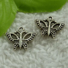 free ship 130 pcs tibet silver butterfly charms 19x15mm #2942