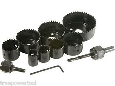 """1 Piece Hardened High Carbon Steel Hole Saw Set, 1"""" to 2-1/2"""""""