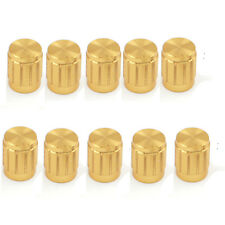 10pcs Golden Knobs Rotary Switch Potentiometer Volume Control Pointer Hole 6mm