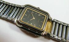 Lassale by Seiko Black & Gold Tone Stainless 2F50-0960 Sample Watch NON-WORKING