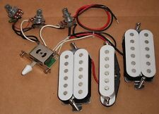 HUMBUCKER GUITAR PICKUPS SET +WIRED POTS  SELECTOR SWITCH - GUITAR PARTS