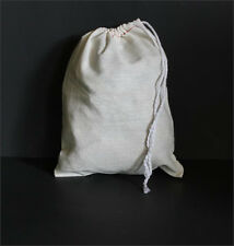 10  - 6 x 8 CLOTH COTTON CRAFT/PARTS BAGS/DRAW STRINGS