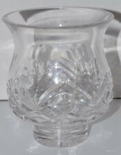"Waterford Crystal Wedding Heirloom Collection 5"" Vase Heart Hurricane Shade"