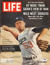 Don Drysdale Signed 1962 LIFE Magazine Cover PSA/DNA COA Dodgers Baseball Auto'd