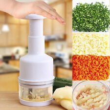 Kitchen Pressing Food Chopper Cutter Slicer Peeler Dicer Vegetable Onions Garlic
