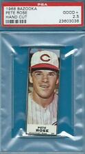 SUPER TOUGH PETE ROSE HAND CUT BAZOOKA GUM BOX 1968 PSA GD+ GRADED BASEBALL CARD