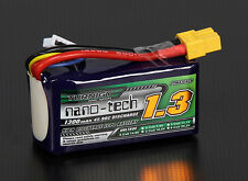 Turnigy Nano-Tech 1300mAh 4S 14.8V 45C 90C LiPo Battery Pack RC Air Helio Quad
