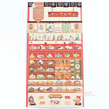 1 sheet korean lovely stickers scrapbook Paper dishes food drink sushi