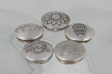 STERLING SILVER 5 ASSORTED DESIGN SOUTHWESTERN BUTTON COVERS FINE 925 6427
