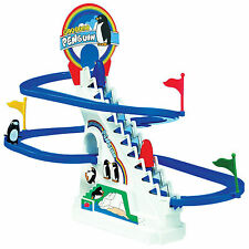 Penguin Slide Race Game Classic Jolly Racer Electronic Track With Rythmic Music