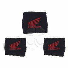 1 Large & 2 Small Black Honda Wing Brake & Clutch Reservoir Sock Cover CBR