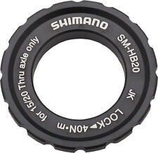 NEW Shimano HB20 15/20mm Axle Hub Centerlock Disc Rotor Lockring