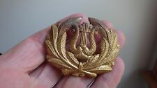 VINTAGE WW11 MILITARY MUSICIAN HAT BADGE MARINE CORPS DRUM AND BUGLE  BX C #14