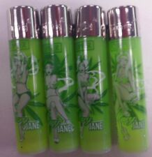 4 PACK OF CLIPPER LIGHTER REFILLABLE MARIJANE PINUPS DESIGN