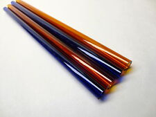 "GLASS BLOWING LAMPWORK TUBING BORO PYREX MULTI COLOR 12MM X  2MM (4) 12"" TUBES"