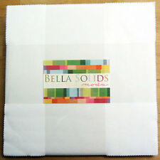 "Bella Solids White Layer Cake, Precut 10"" Squares, 9900LC 98, Solid White Fabric"