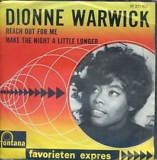 7inch DIONNE WARWICK reach out for me HOLLAND EX+ favorieten expres