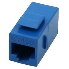 RJ45 Cat5e Female to Female Coupler UTP Ethernet Keystone Jack Blue