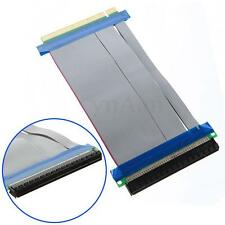 PCI-E Express 16X Slot Riser Card Flessibile Ribbon Extender Prolunga Cavo Cord