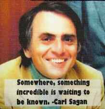 CARL SAGAN QUOTE - Lots left to discover - Printed Patch - Sew On - Jacket, Bag!