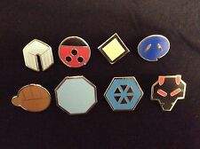 Pokemon: Johto Gym Badges  Set of 8 Metal Pins Gen 2 ***30 DAY WARRANTY*** USA