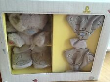 tiny tatty teddy baby mittens booties and teddy gift set