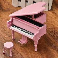 WOOD PINK PIANO WIND UP MUSIC BOX :  ITS A SMALL WORLD