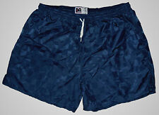 Navy Blue Checker Nylon Soccer Shorts by Don Alleson - Men's 2XL *NEW*