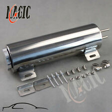 "3"" x 10"" 3 x10 Polished Stainless Steel 34 oz Radiator Over Flow Tank SBC BBC"