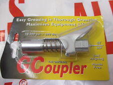 "Grease Gun G Coupler Quick Release Lock On Coupling End 1/8"" BSP Workshop Farm"