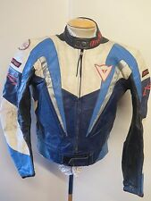 "Giacca IN PELLE DAINESE VINTAGE CAFE RACER Moto Giacca Biker M 38"" EURO 48"