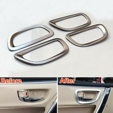4X Chrome Inerior Side Door Handle Bowl Cover Frame Trim For Toyota Corolla 2014
