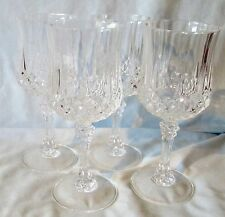 "Crystal Cristal d'Arques Durand Longchamp Water Goblet Glasses 7 1/4"" set of 4"