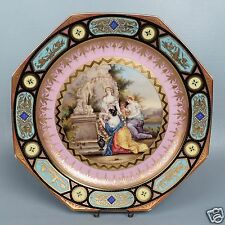 Antique 19c Jeweled HP Royal Vienna Porcelain Charger - Opfer Der Venus plate PC