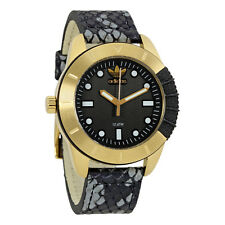 Adidas Originals Black Dial Leather Mens Watch ADH3052