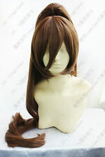 WORKING!! Fashion Brown Cosplay Party Wig Hair Long Clip Ponytail