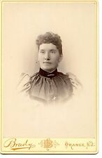 Young Woman-Brady Studio Adv-Orange-New Jersey-Nice Vintage Cabinet Photograph