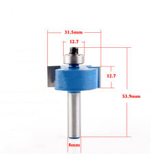 "1 Pcs 8mm Shank 1/2""H Rabbet Router Bit T Type Wood Working Cutter Tools"