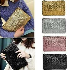 Sparkling Sequins Chic Clutch Evening Party Bag Handbag Womens Tote Purse Pink