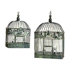 Woodland Imports 88016 Metal Bird Cage For Garden Or Porch (set of 2)