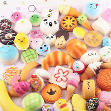 Jumbo Medium  For Squishy Soft Panda/Bread/Cake/Buns Phone Straps Random 20pcs