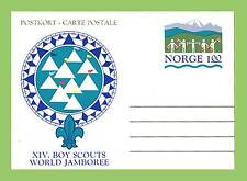 Norway 1975 World Scout Jamboree postal stationery card unused