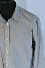 Levis grey pin striped classic fit shirt size large western trucker