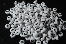 acrylic number beads - jewellery making - novelty beads - childrens jewellery