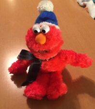 "Gund Plush Winter Elmo with Hat and Scarf 10""  #75755"