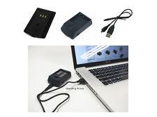 USB Ladegerät für Casio Exilim EX-FC Serien EX-FC100 EX-FC150, 1 Jahr Garantie