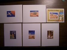 Niger Deluxe Proof Sheets 389-90, C283-5, C288 SS - 1976 Viking Mission to Mars