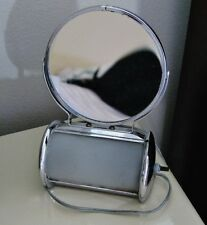 Authentic Art Deco Vanity Swiveling 2-Sided Mirror with Light -Works!